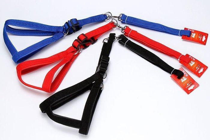 @我最便宜@翔仁寵物工坊~【防爆衝防護軟墊素色胸背帶組(含牽繩)】110×2.5cm