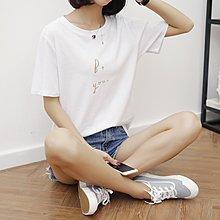 =EF依芙=韓國首爾 時尚精品 東大門同步 夏季新款韩版胖mm時尚圆领短袖T恤17838