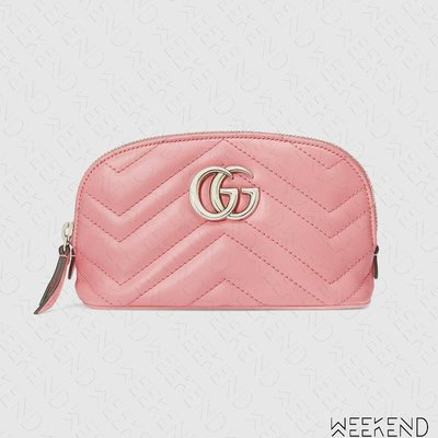 【WEEKEND】 GUCCI GG Marmont Cosmetic Case 化妝包 淡粉色 625544