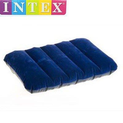 美國 INTEX 68672 防水植絨充氣枕頭 辦公午休小睡登山露營 43*28*9cm
