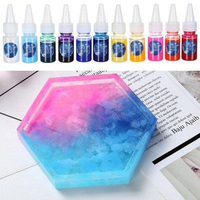 AB膠 環氧樹脂膠 暈染色膏10ml 色漿 色精 水晶膠 水晶膠  矽膠 染色 epoxy
