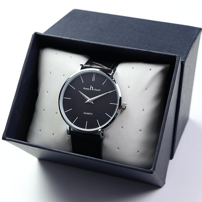 超薄男士手錶皮帶男學生韓版簡約時尚潮流男錶防水石英錶腕錶 快速出貨