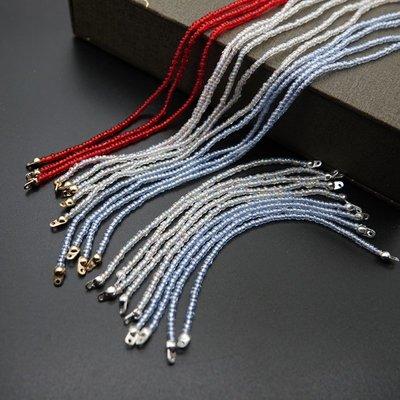 diy手工制作材料漢服古風發簪步搖飾品配件散珠米珠流蘇銀色包扣飾品 配件 首飾