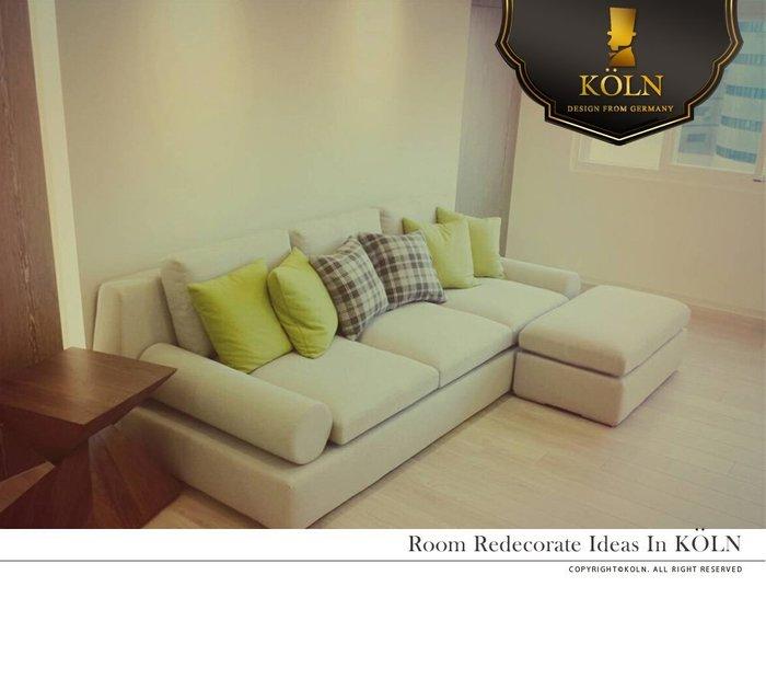 【爵品訂製沙發】MF-SL-01 現代慵懶舒適型270公分大L型羽絨沙發(腳凳可做活動)(可整個人慵懶得坐上去歐)