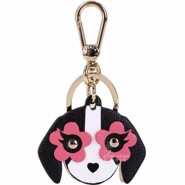 米蘭廣場 FURLA VENUS 黑粉色花眼小狗造型鑰匙圈(展示品) 1890023-01