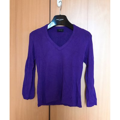 brand design purple v neck silm fit blouse top shop zara zalora品牌靚紫色滑身簡約v領收身中袖襯衫