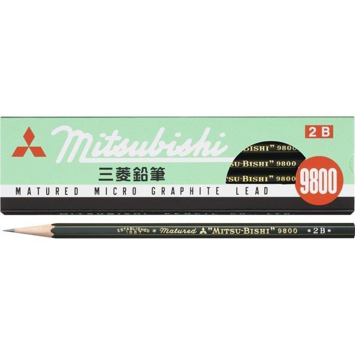免運 TAKI MAMA 日本代購 三菱鉛筆 9800 2B鉛筆12支入(2B) 型號K98002B。預購中