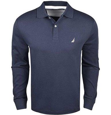 100%來自美國專櫃正品純棉 NAUTICA polo衫