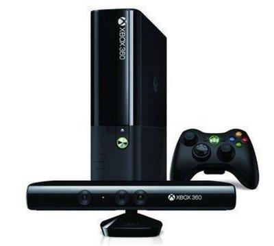 二手 XBOX360 白色 E 4G 主機 + Kinect感應器+一個遊戲片
