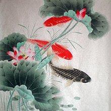 yes99buy加盟-寫意字畫-純手繪鯉魚國畫 工筆花鳥 居家茶樓辦公室裝飾   預購7天+現貨