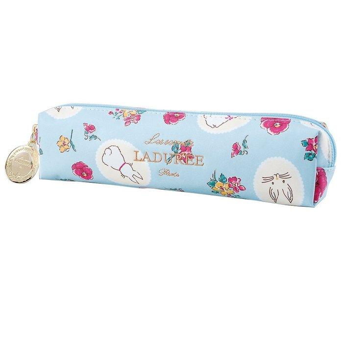 Ariel's Wish-日本Laduree復活節繽紛花園小兔兔子化妝包收納袋鉛筆盒筆袋附品牌金牌拉鍊吊飾-兩色絕版品