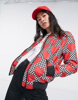 代購Love Moschino heart print bomber jacket 休閒時尚可愛心夾克外套IT38-48