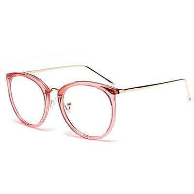 眼鏡 框 橢圓框 鏡架-時尚百搭舒適輕盈男女平光眼鏡5色73oe51[獨家進口][米蘭精品]