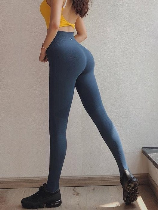 瑜伽褲蜜桃女孩高腰緊身運動長褲女顯瘦高彈力速干健身褲訓練瑜伽提臀褲