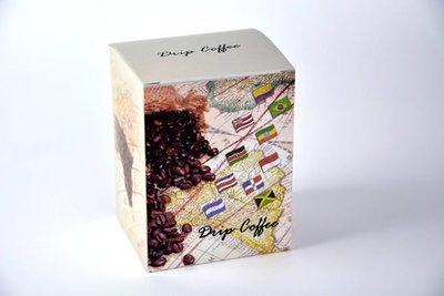 《達人包裝》彩圖咖啡盒SA-D4 (10*9*13cm) /50入/425元 〈濾泡式咖啡外盒,手沖咖啡外盒〉