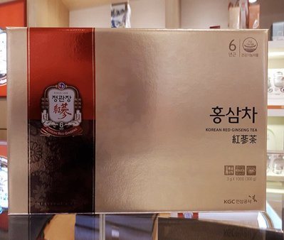 [預購] 韓國直送正官庄 原廠原裝 100入高麗蔘茶 紅蔘茶 盒裝 非代理商產品