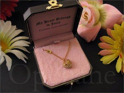 Juicy Couture 金色鑲鑽愛心造型12K鍍金項鍊禮盒裝名牌精品珠寶手飾 免運 愛Coach包包