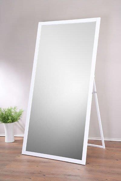 寬90超大原木立鏡 全身鏡 掛鏡 化妝鏡 自拍鏡(防爆安全鏡片) 【馥葉】型號MR1890  立掛兩用