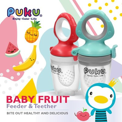 PUKU藍色企鵝-鮮果樂咬含S/M/L替換頭(薄荷綠/蘋果紅)P14333