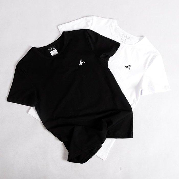 Melia 米莉亞代購 agnes.b 日本店面代購 東京大阪 刺繡小LOGO 兩色 日系男裝 時尚男款T恤 促銷