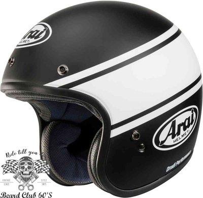 ♛大鬍子俱樂部♛ Arai ® Freeway Classic Bandage 復古 Cafe 安全帽 B/W