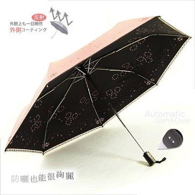 【RAINBOW】絢爛煙花 - 抗UV自動傘 (輕粉紅) / 晴雨傘防風傘防曬傘摺疊傘抗UV傘陽傘洋傘折傘 (免運)
