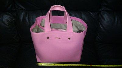 全新 FURLA 粉紅色 真皮 手挽袋