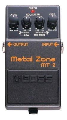 ☆ 唐尼樂器︵☆ Boss MT-2 Metal Zone 電吉他金屬破音單顆效果器(最受歡迎的破音之一)