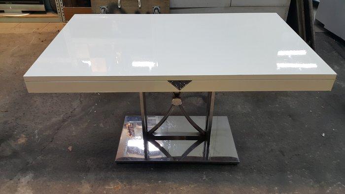 樂居二手家具 E119CJ 白色餐時尚餐桌 吃飯桌 工作桌 洽談桌 書桌 會議桌 休閒桌 茶几【全新中古傢俱家電賣場】