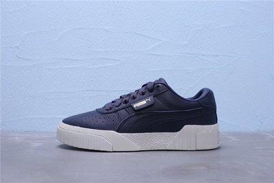 Puma Call Emboss Wn's 厚底 深藍白 皮革 金標 休閒運動鞋 女鞋 369734-03