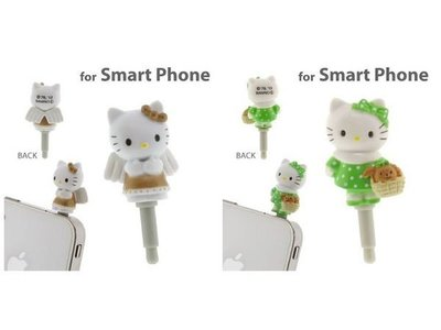 *凱西小舖*日本進口三麗歐正版KITTY凱蒂貓可愛造型3.5mm耳機孔防塵塞*2選1