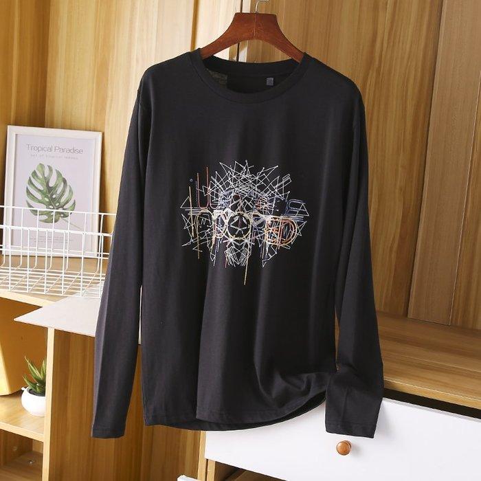 [C.M.平價精品館]新品特價170~190輕薄舒適修身有型黑色長袖T恤