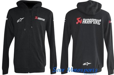 [Seer] 現貨 正版 Akrapovic X Alpinestars 蠍子 A星 聯名 外套 帽T 連帽外套