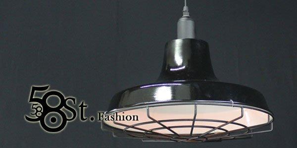 【58街】義大利設計師款式「工業吊燈,有網罩」複刻版。GH-324