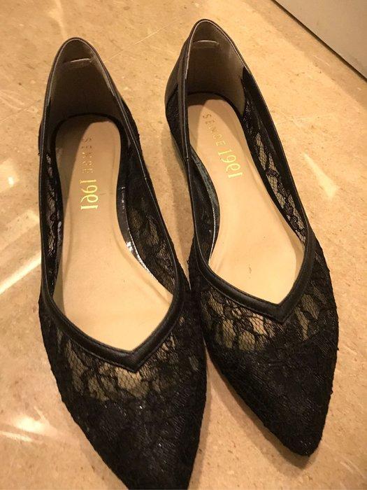 蕾絲平底鞋