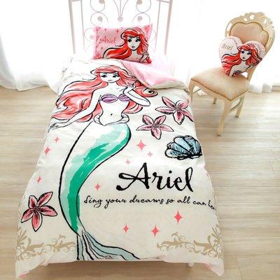 日本代購 迪士尼 disney 愛麗絲境 貝兒 長髮公主 小美人魚 白雪公主 仙度瑞拉 單人床包 三件組 床單 枕頭套