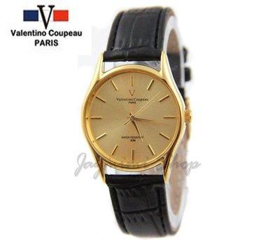 【JAYMIMI傑米】Valentino范倫鐵諾古柏皮帶手腕錶-黑皮錶極簡刻度防水錶-特價550