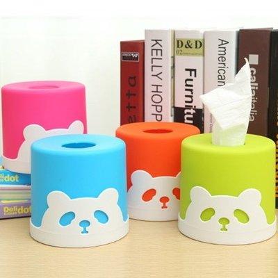 可愛熊貓紙巾抽 面紙盒(圓桶型) 創意居家禮品贈品-艾發現