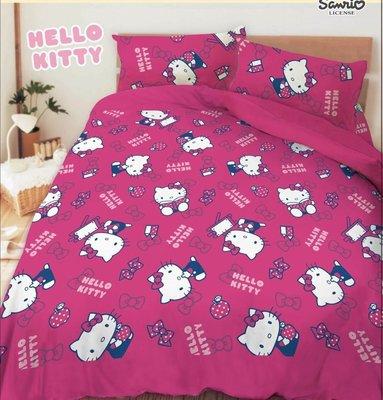 【kitty-生活點滴】雙人床包+舖棉2用被套四件組.正版授權,免運