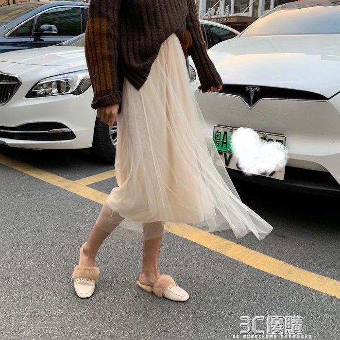 【瘋狂夏折扣】網紗裙 胯寬大腿粗的超仙女生chic溫柔網紅重工網紗蛋糕很仙半身裙子