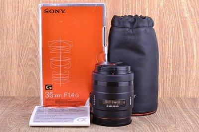 【台中品光攝影】SONY SAL 35mm F1.4 (35/1.4) G 定焦 人像 FOR A系列 #23321K