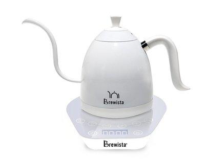Brewista Artisan 600ml可調溫不鏽鋼電水壺  全白. 英國Strix溫控系統.手沖師比賽專用壺