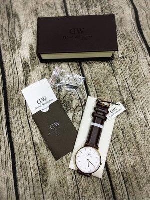 Daniel Wellington Classic Bristol 手錶 深棕色 玫瑰金40mm 全新 現貨 保證真品