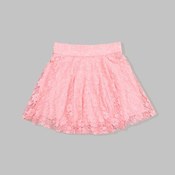 【HOLLISTER Co.】【HCO】【XS S L】HC女款蕾絲短裙粉 F04140611-02