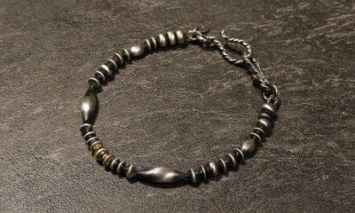 【Monolith】14K金珠 舊化銀珠手鍊 尺寸可訂製