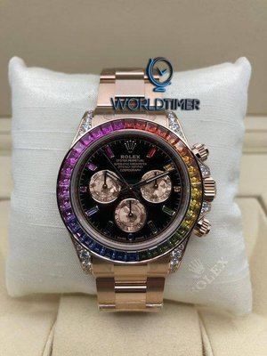 Rolex [NEW][已停產] Everose Gold Daytona Rainbow 116595RBOW