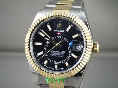 ROLEX 勞力士 326933.全新接受預訂.Sky-Dweller 半金天行者.GMT沙羅系統年曆錶