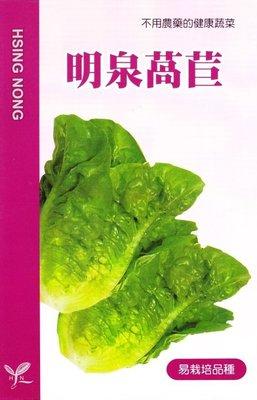 種子王國 明泉萵苣 【萵苣種子】興農牌 每包約4ml