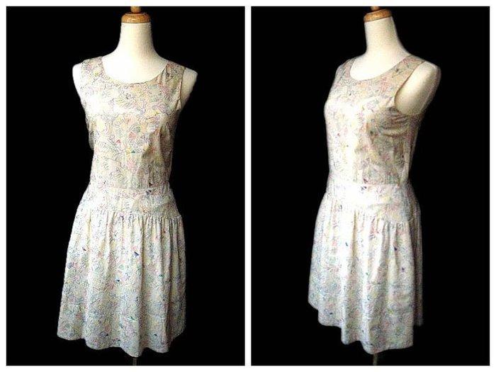 *Beauty*MARC BY MARC JACOBS米色彩線刺繡背心洋裝