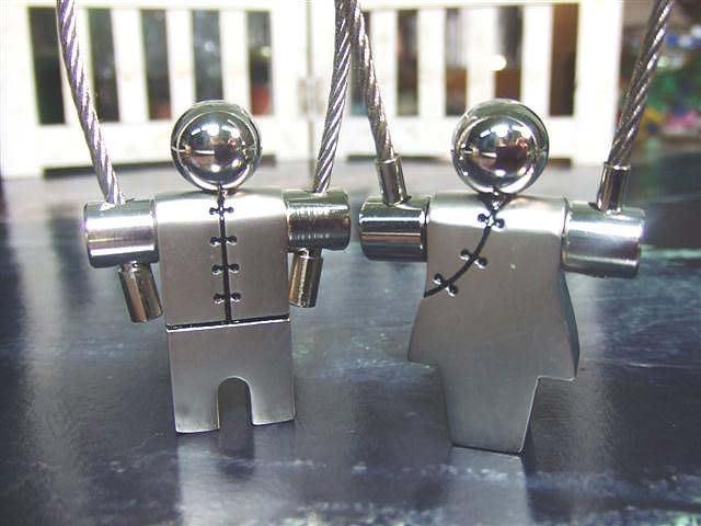 ☆創意小物店☆情侶鑰匙扣(天賜良緣) 鑰匙圈/創意可愛金屬鑰匙圈 時尚造型個性飾品